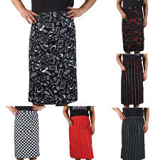 New Arrival  Stripe Half Apron With Pocket Chef Waiter Kitchen Cook Fashion SPUS