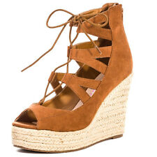 Dolcis Hilary Womens Wedges Tan New Shoes