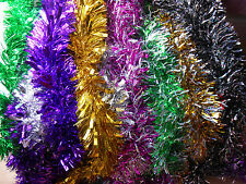 2m (6.5ft) Luxury Chunky Christmas Xmas Tinsel Tree Decoration Garland 10Colours