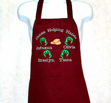 Nana Apron, Christmas Cookies Apron, Custom Personalize With Name, AGIFT 801