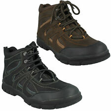 A3032 MENS LACE UP LEATHER HIKING OUTDOOR WALKING BOOTS