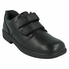 DEATONGATE BOYS CLARKS LEATHER RIPTAPE PADDED COLLAR COMFY SCHOOL SHOES TRAINERS