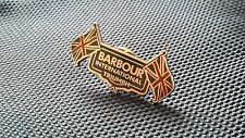 A Quality hard enamel  Barbour international triumph pin badge