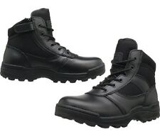 MENS LACE UP LEATHER RIPTAPE WORK MILITARY MID ZIPPER DURA-MAX BOOTS 4205