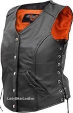 Mens Biker CLASSIC Black OR Brown SUEDE Leather WESTERN STYLE Motorcycle Vest