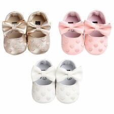 Toddler Girl Crib Shoes Baby Bowknot Soft Sole Prewalker Sneakers Newborn to 18M