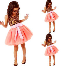 Baby Girls Kids Toddlers Dress Princess Party 2-7Y Tulle Tutu Mini Skirt  GT