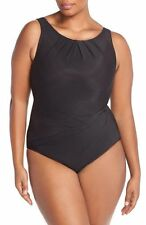Miraclesuit Asbury One Piece Swimsuit black underwire 449006 BNWT US16-AU 18