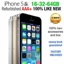 Like NEW Apple iPhone 5s 16GB 32GB 64GB 4G LTE Unlocked Smartphone refurbished