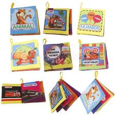 INFANT BABY TODDLER CLOTH BOOK INTELLIGENCE DEVELOPMENT COGNIZE EDUCATION TOYS