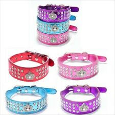 pet Imperial crown Rhinestone PU Leather Dog Cat Puppy Bling Diamond Collar