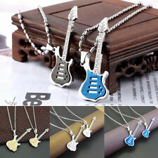 Men Womens Special Stainless Steel Guitar Pendant Jewelry For Necklace Chain