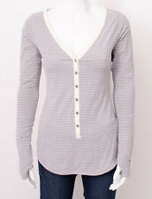 NWT Lululemon Awesome Henley Long Sleeve Top Hyper Stripe Ghost SIZE 12