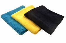 24 Microfiber 16x16 Cleaning Cloths Detailing Polishing Towels Rags PLUSH 400GSM