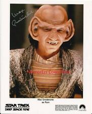 STAR TREK: Deep Space 9 Max Grodenchik / Rom SIGNED Autograph 8x10 Color Photo