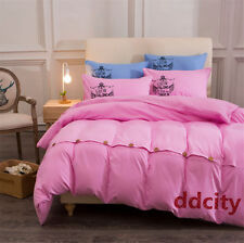 Pink Color Button Bedding Set Duvet Cover Set  Bedlinen Pillowcase Bedclothes