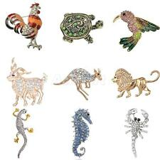 Punk Styles Animals Crystal Rhinestone Pin Brooch Jewelry Party Gifts