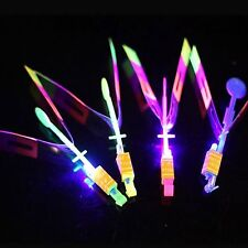 Newest Toy - Fun Outdoor Slingshot Silent Led Flying Glow in Dark UFO Helicopter