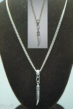 "18"" or 24 Inch Chain Necklace & Tusk Tooth Pendant Charm Horn of Plenty Gift"