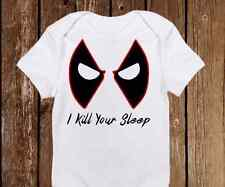 Funny Halloween I Kill Your Sleep Dead Pool Onesie unisex baby clothes