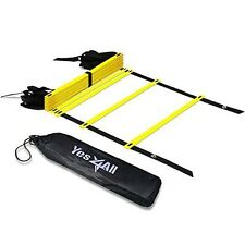 Yes4All Speed and Agility Training Ladder with Carry Bag - Multi Choice: 8, 12,