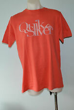 Quiksilver Mens Printed T Shirt - RUST - SIZE - MEDIUM- NEW