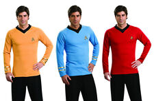 STAR TREK Original Series & II Uniform Adult Costume T-Shirt Kirk Spock Scotty