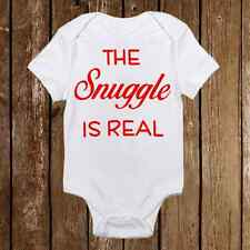 The Snuggle is Real - Funny Baby Girl & Boy Clothes Bodysuit Onesie Unisex