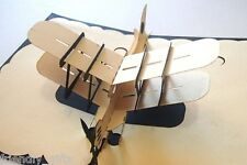 15cm x 10cm 3D Pop Up Airplane Greeting Card, Blue or Red Cover, Any Occasion
