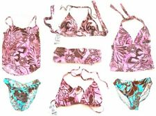 Sz XS-XL - Sunsets Jungle Love & Baja Swimsuits & Swimsuit Separates Turq, Pink