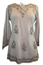 117 B Renaissance Peasant Gypsy Victorian Embroidery Boho Tunic Top Blouse
