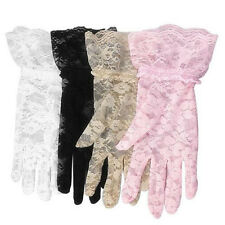 New 1 Pair Party Sexy Lace Women Gloves Floral Full Finger Wrist Gloves