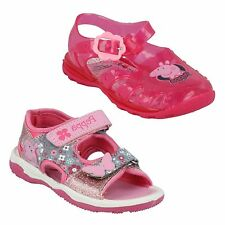 GIRLS PEPPA PIG SHOES FLOWER RIPTAPE STRAP PINK JELLY SANDALS SIZE 4 5 6 7 8 9
