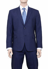 Tommy Hilfiger Regular Fit Solid Blue Two Button Stretch Wool Blend Suit