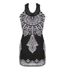 Fashion new Exotic Totem Vintage Stand Collar Sleeveless Mini Dress OO55