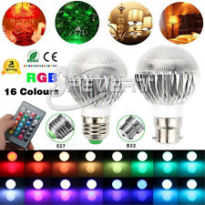 16 Colors E27 B22 5W RGB Magic LED Spot Light Bulb Lamp w/IR Remote AC 85-265V
