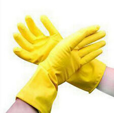 Waterproof New Orange Protective Clean Laundry Gloves Rubber Dishwashing Yellow