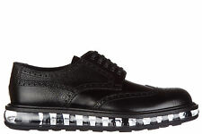 PRADA MEN'S CLASSIC LEATHER LACE UP LACED FORMAL SHOES NEW BROGUE SPAZZOLATO 2AC