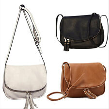 Women Lady Elegant Leather Bags Handbag Tote Tassel Purse Shoulder Bag Satchel H