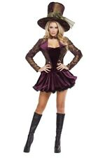 Women's Alice in Wonderland Mad hatter Madhatter Tea Party Tease Costume