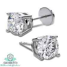 14K WHITE OR YELLOW GOLD 1 cttw SOLITAIRE VS2-SI1 G-H DIAMOND STUD EARRINGS*