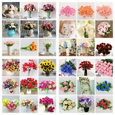 Artificial Fake Flower Leaf Peony Floral Bridal Wedding Bouquet Party Home Decor