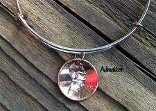 1964 LUCKY COPPER PENNY SILVER WIRE BANGLE CHARM BRACELET 52nd BIRTHDAY GIFT BOX
