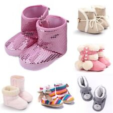 Infant Toddler Crib Baby Girls Soft Sole Shoes 0-18 Months Winter Snow Boots CA