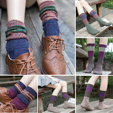 2016 Women Girl Cotton Geometric Boot Cuffs Warmer Leg Stockings Soft Long Socks