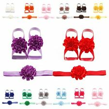 Wholesale Baby Infant Headband Foot Flower Elastic Hair Band Accessories 3Pcs