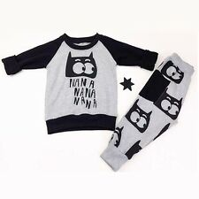 Children Clothing Sets NaNa Cartoon Printed Baby Boys Girls Sweaters and Pants