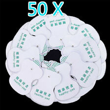 50x Electrode Pads for Tens Acupuncture Digital Therapy Machine Body Massager RW