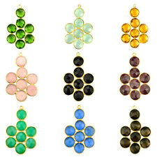 Select Your Gemstone Earring 39x27 mm 1 Pcs Bezel Component, Gold Plated 13001