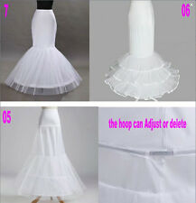 white fishtail Petticoat proms skirt Wedding party underskirt crinoline mermaid